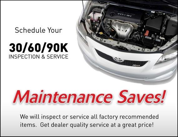 Toyota Maintenance and Repair Temecula Murrieta